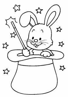 Djur Målarbilder för barn. Teckningar online till skriv ut. Nº 60