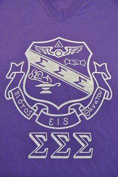 Sorority Crest Shirt - Sigma Sigma Sigma-