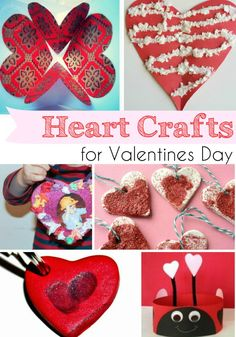 easy and fun heart crafts for Valentines day, that kids can make
