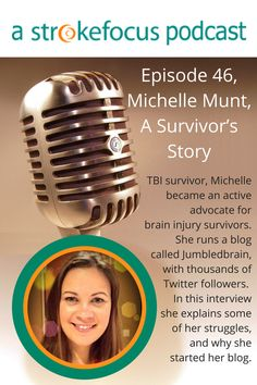 TBI survivor, Michelle became an active  advocate for  brain injury survivors.  She runs a blog  called Jumbledbrain, with thousands of  Twitter followers.  In this interview  she explains some  of her struggles,  and why she  started her blog.