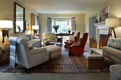 Kristen Panitch Interiors (floor plan almost identical to ours; use similar seating arrangement)
