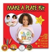 Make a Plate Art Kit - Kazoo Toys $12.66