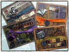 Cards using Tim Holtz Seasonal papers