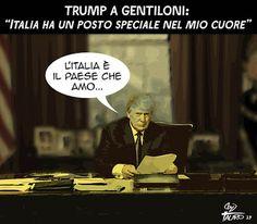 Qualcuno quaggiù ci ama... #Gentiloni #Trump #Italy #Usa #Love