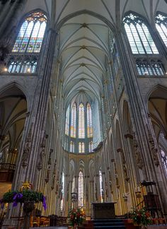 Cologne Cathedral - Cologne, Germany. Building of this great Cathedral began in 1284 but not completed until 1880 due to lack of money and interest.
