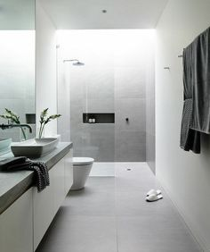 Luxury Bathroom Ideas is no question important for your home. Whether you choose the Small Bathroom Decorating Ideas or Luxury Bathroom Master Baths Rustic, you will create the best Luxury Bathroom Master Baths Walk In Shower for your own life. Bathroom Goals, Laundry In Bathroom, Bathroom Layout, Basement Bathroom, Bathroom Grey, Bathroom Modern, Modern Sink, Contemporary Bathrooms, Light Grey Bathrooms