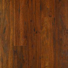 Pergo MAX Premier 7.48-in W x 4.52-ft L Cambridge Amber Oak Embossed Laminate Floor Wood Planks