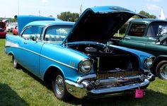 blue, chevy, chevrolet, car, auto, vehicle, photography,  card, print, canvas, vintage, classic, (title: Samantha I)