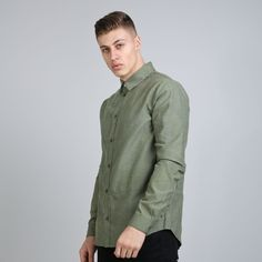Perf Shirt - Olive Oxford  // Click the link to buy or for more info - https://www.king-apparel.com/new-collection/shirts/perf-shirt-olive-oxford.html