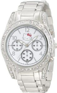 Hello Kitty by Simmons Jewelry Co. Women's H3WL1034SLV Brushed Round Silver Alloy Case And Bracelet At 12:00 Position Watch: Watches: Amazon.com