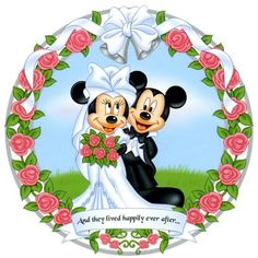 mickey and Minnie mouse wedding topper