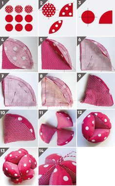 DIY Montessori: Balle de préhension - Moto Tutorial and Ideas Baby Sewing Projects, Sewing For Kids, Diy For Kids, Baby Couture, Couture Sewing, Fabric Toys, Fabric Crafts, Sewing Toys, Sewing Crafts