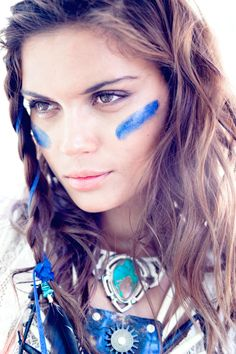braids and face paint #fierce