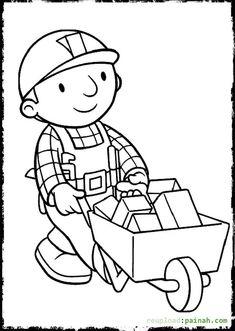 kostenlose druckbare malvorlagen bob der baumeister für kinder with images | coloring pages