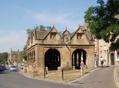 Chipping Campden Market Hall. Start of the Cotswold Way