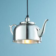 Tea Kettle Pendant Light #TeaCup #Lighting #Lamp #LightBulb