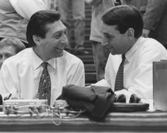 Coach Jim Valvano and Coach K