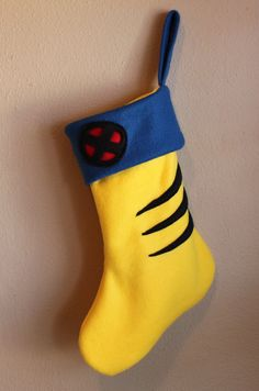 X Men Wolverine Christmas Stocking by LucysRebellion on Etsy, $12.00