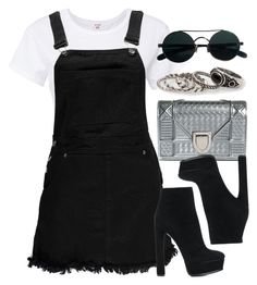 """""""Sin título #13053"""" by vany-alvarado ❤ liked on Polyvore featuring RE/DONE, Boohoo, Christian Dior, Casadei and MANGO"""