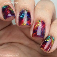 Multicoloured Nails.