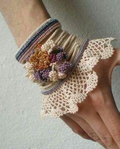 Muñequera,crochet.