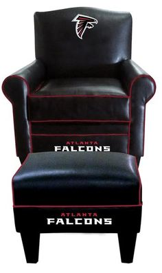 Use this Exclusive coupon code: PINFIVE to receive an additional 5% off the Atlanta Falcons Leather Game Time Chair and Ottoman at SportsFansPlus.com