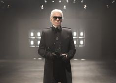 """Karl Lagerfeld at """"The Glory Of Water"""" exhibition opening in Munich"""
