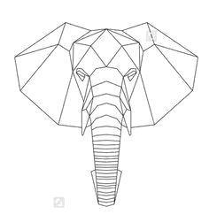 Nail String Art, Nail Art, Hilograma Ideas, Elephant Quilt, Polygon Art, 3d Cnc, Geometric Drawing, Geometry Art, Elephant Tattoos
