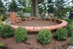 "How cute is this for an outdoor classroom?  Love the ""teacher"" chair!"