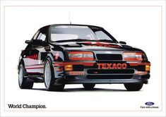 Sierra Cosworth RS 500 advert from the 1980s