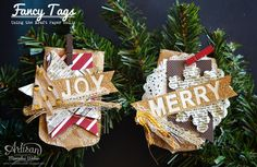 Pretty excited about these wrapping paper tags! ~Mercedes Weber