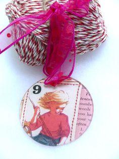 Vintage School Girl Ornament