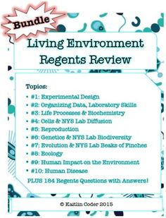 Answers For Old Regents Exam For Living Environment 17