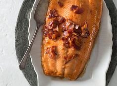 Maple Brown Sugar Bacon-Glazed Roast Salmon from Publix Aprons