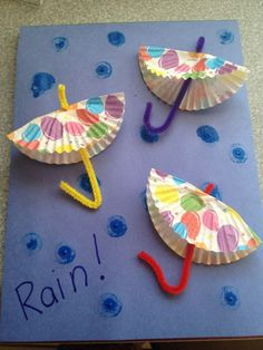 Kids crafts Frugal April Fun Craft for Kids: DIY Rainy Day Paper Umbrellas Soapstone Countertops – D Daycare Crafts, Classroom Crafts, Fun Crafts For Kids, Toddler Crafts, Projects For Kids, Diy For Kids, Craft Projects, Arts And Crafts, Simple Crafts