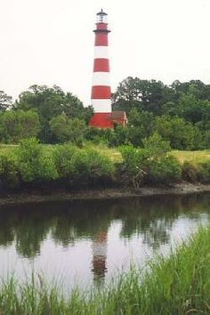 The historic Assateague Lighthouse, at Chincoteague, VA, was built in 1867 and is maintained by the U.S. Coast Guard.