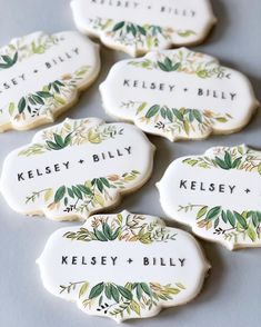 Wedding Shower Cookies, Cookie Wedding Favors, Edible Wedding Favors, Wedding Desserts, Cookie Favors, Favours, Bridesmaid Cookies, Anniversary Cookies, Royal Icing Cookies