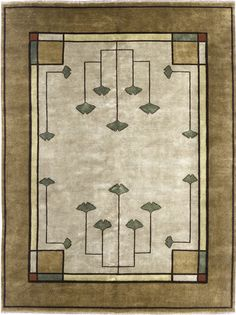 The Ginkgo Rug PC-21A , Arts and Crafts Persian Carpets, Mission Rugs