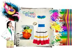 """""""a world of color, light and fun colors this spring!"""" by pamela-802 ❤ liked on Polyvore"""