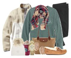 """{day 3} seeing the lights!!"" by sydneylawsonn ❤ liked on Polyvore featuring Madewell, Patagonia, Longchamp, UGG Australia, Michael Kors, Kendra Scott, Look by M, M. Miller and twelvedaysofchristmas2k15"
