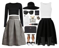 """""""Black and White <3"""" by xxtraceyxx on Polyvore featuring Glamorous, Coach, Boohoo, Rumour London, Givenchy, Eugenia Kim, Chanel, Native Union, NARS Cosmetics and Gucci"""