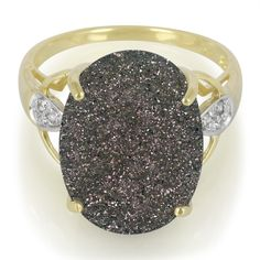 Bague en or et Quartz Etincelant noir 3947MX | Juwelo Bijouterie