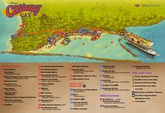 Making The Most of A Disney Cruise tips with ALittleClaireification.com #vacation #disneycruise #disneyparks @alittleclaire ...Map of Castaway Cay!!!