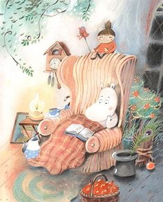 "A ""Moomin"" piece by Tove Jansson Tove Jansson, Moomin Books, Children's Book Illustration, Whimsical Art, Illustrations Posters, Troll, Fairy Tales, Character Design, Cartoon"