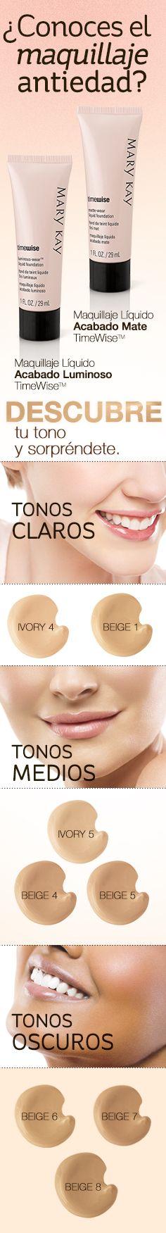SÍ, es de verdad, ¡maquillaje anti edad! Ahora podrás tener más beneficios en tu maquillaje diario, que además de hacerte ver divina, mejora la apariencia de tu piel gracias a la combinación de péptidos de colágeno. Descubre cómo conseguir la base perfecta para ti en: www.marykay.com.co