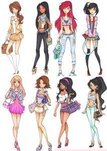 Olá meninas, tudo bem com vocês? Eu sou apaixonada pelas princesas da disney. Alguns ilustradores recriaram as princesas em versões diferente, e sempre que encontrava alguma pela internet, eu ia gu…