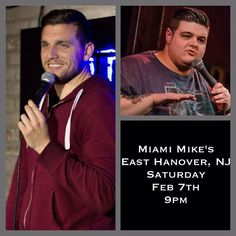 Tonight I'm opening for Chris Distefano at Miami Mike's in East Hanover NJ 9pm, for tickets go to https://www.eventbrite.com/e/feb-7-guy-codes-chris-di-stefano-tickets-15253080374, see you there!!