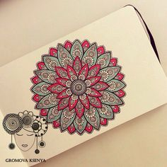 Imagen de mandala, drawing, and art