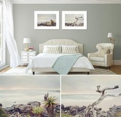 Landscape prints for interior spaces. White Box Frame, Interior Spaces, Main Bedroom, Print Sets, Wall Art Prints, Framed Canvas Prints, Wall Design, Large Art Prints, Art Prints For Home
