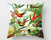 I love science! Science pillow/nature pillow/Bird pillow/ornithology pillow/vintage pillow/geeky pillow/home decor